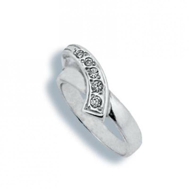 Trina - Сребърен пръстен с Цирконий 1625032-Сребърни бижута