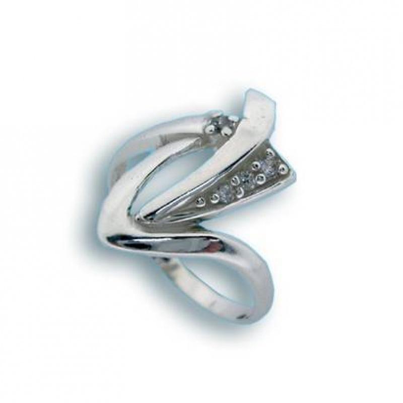 Lorna - Сребърен пръстен с Цирконий 1625121-Сребърни бижута