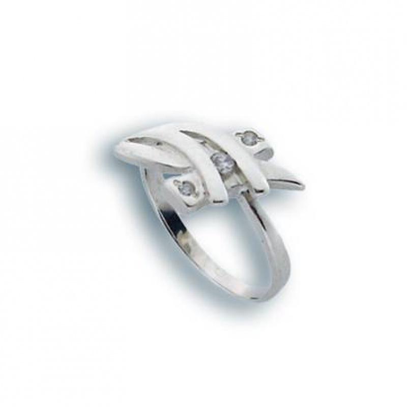 Polly - Сребърен пръстен с Цирконий 1625742-Сребърни бижута
