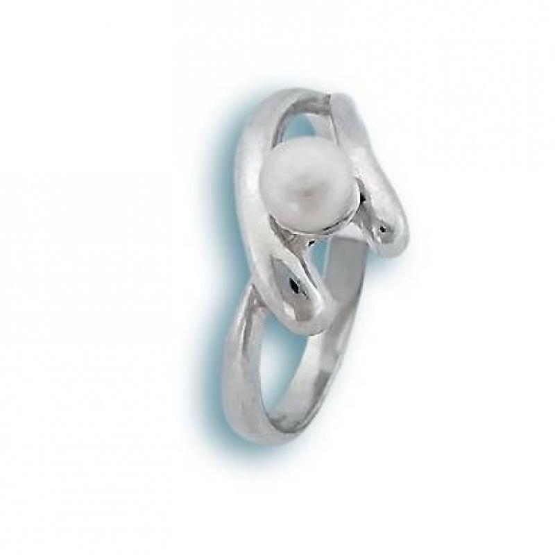 Cassidy - Сребърен пръстен с Перла А 6 мм  1705200-Пръстени