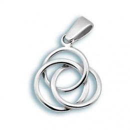 Amelie - Сребърна висулка без Камък 181809-Сребърни бижута