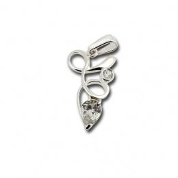 Rosalie - Сребърна висулка с Цирконий 182821-Сребърни бижута