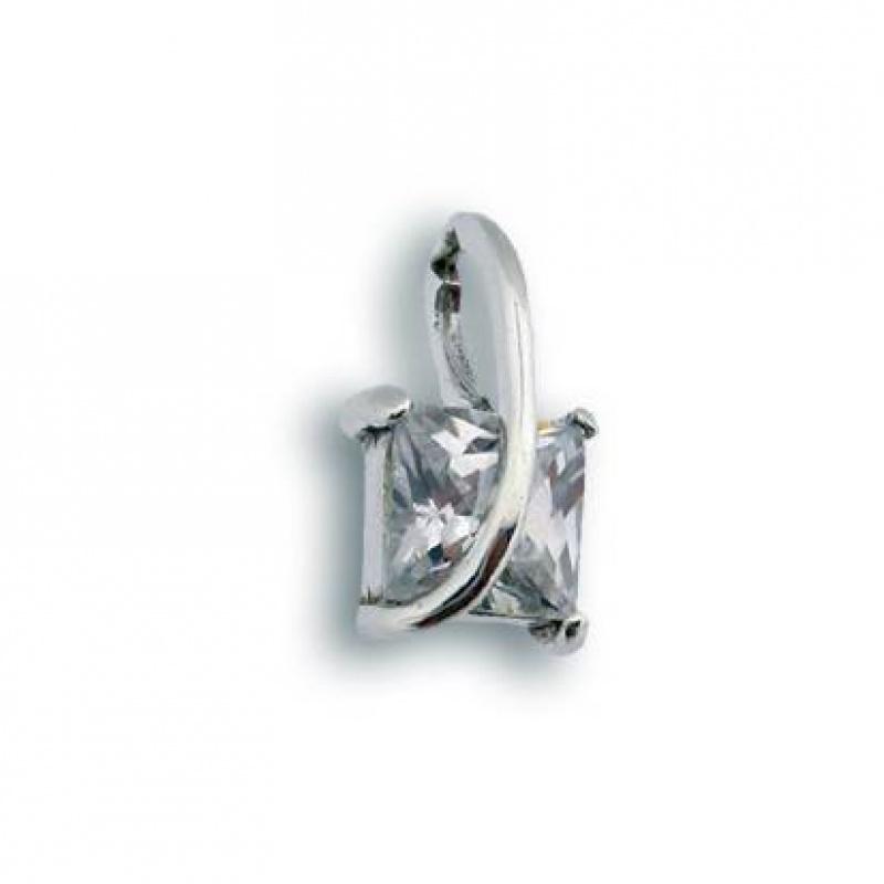 Natasha - Сребърна висулка с Цирконий 184043-Сребърни бижута