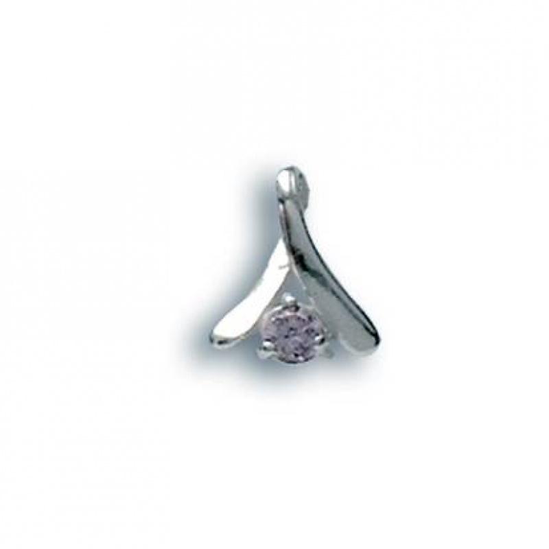 Yvette - Сребърна висулка с Цирконий 184075-Сребърни бижута