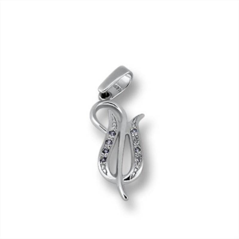 Cecile - Сребърна висулка с Цирконий  174845-Сребърни бижута