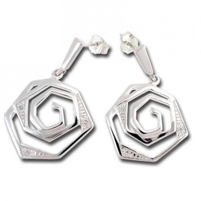 Сребърни обици с Камък 140820-Oбици