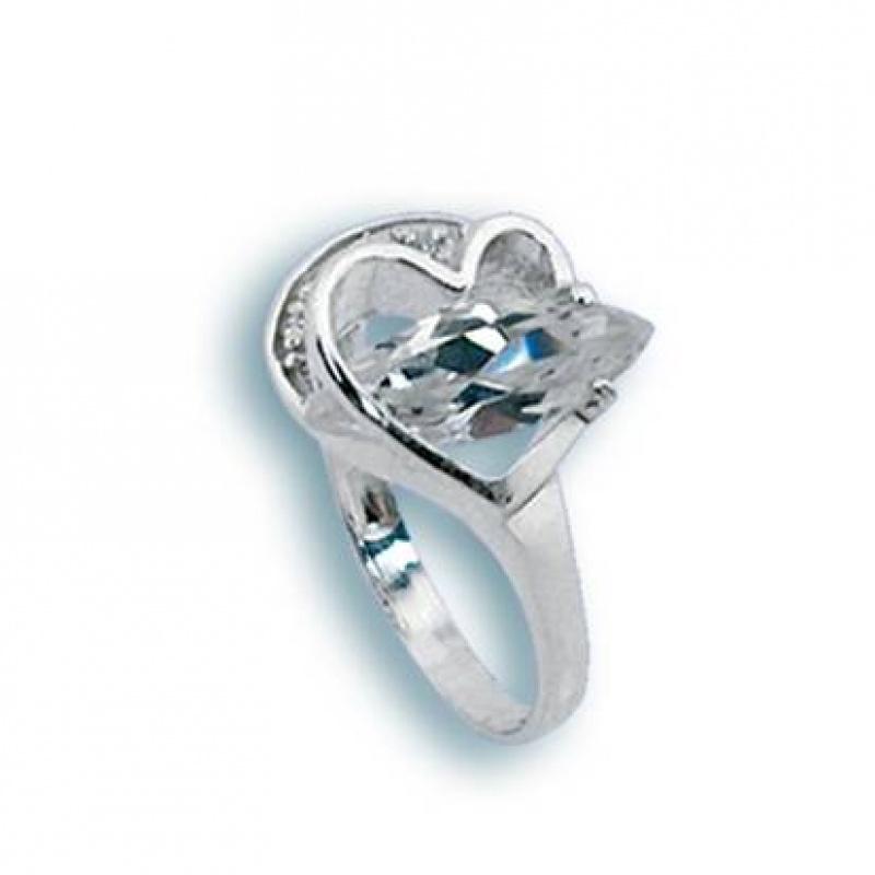 Сребърен пръстен с Камък 1624991-Пръстени
