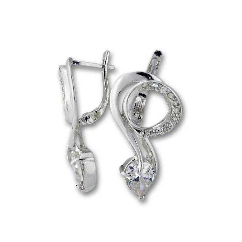 Сребърни обици с Камък 137931-Oбици
