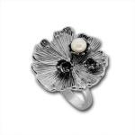 Сребърен пръстен с перла 1705872WH-Пръстени