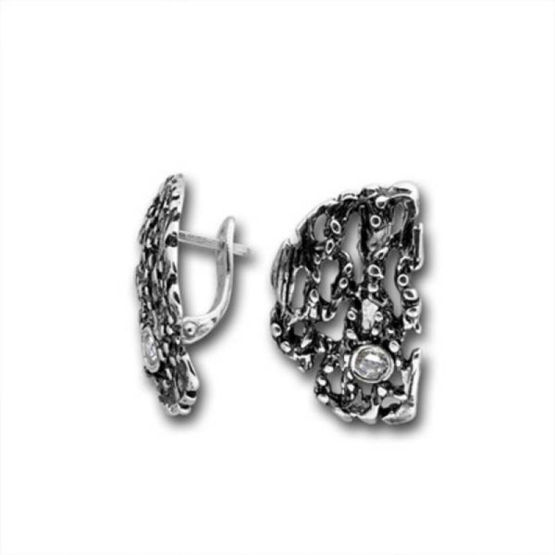 Сребърни обици с Камък 121882-Oбици