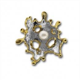 Сребърен медальон с перла 190869GO-Медальони