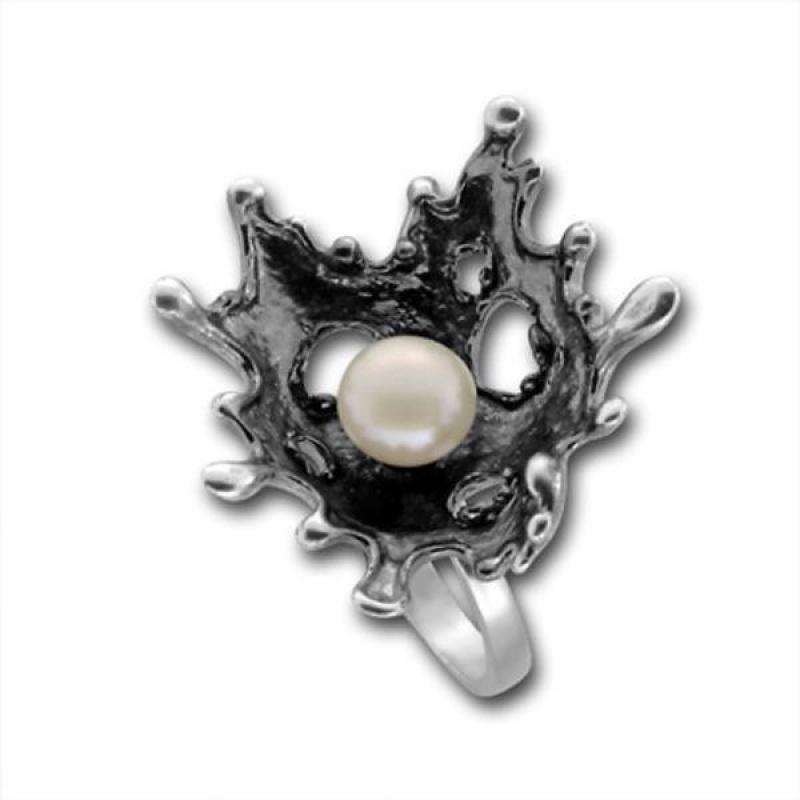 Сребрен пръстен с перла 1705869 -Пръстени