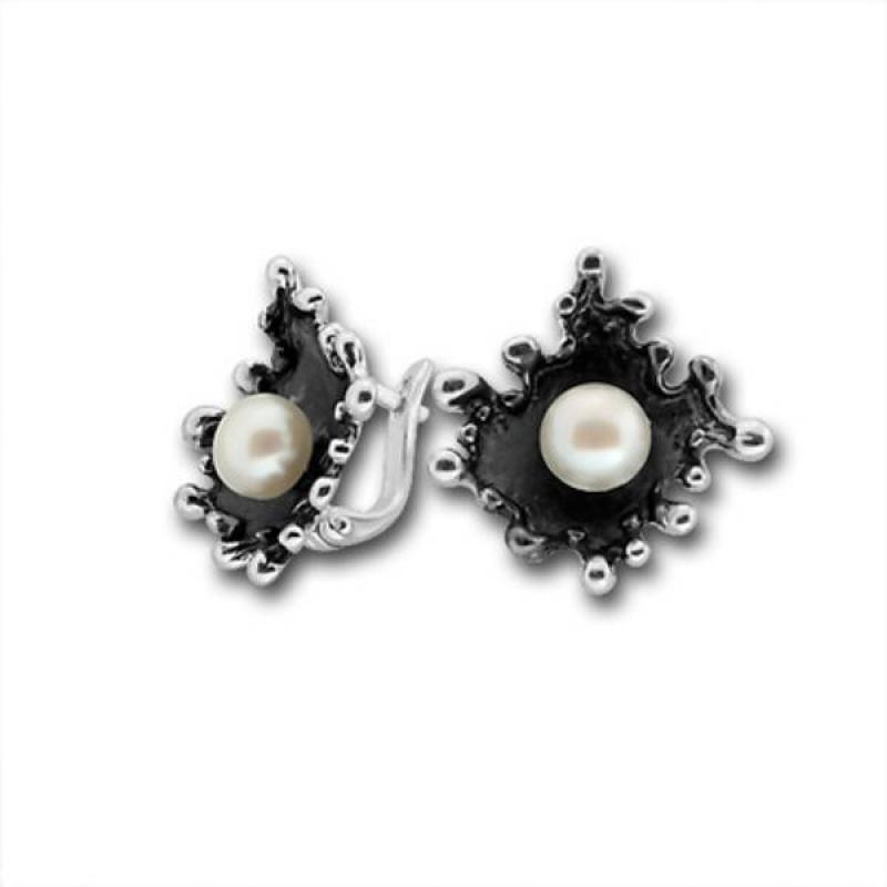 Сребрна обица с перла 115869.1-Oбици