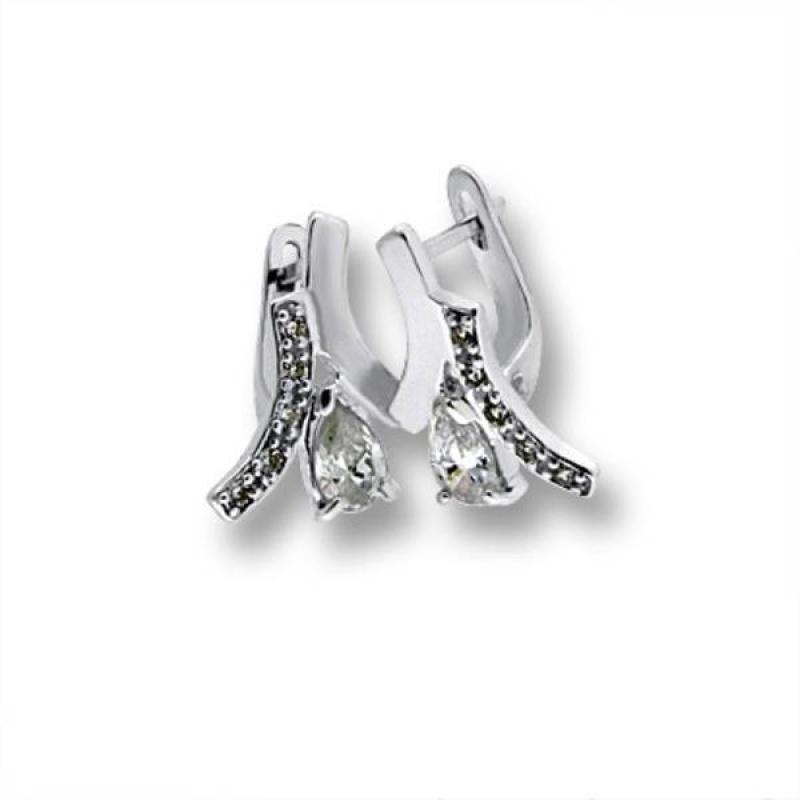 Сребърни обици с Камък 138850-Oбици