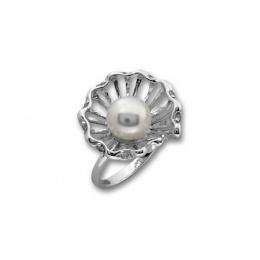 Сребърен пръстен с перла 1705947 -Пръстени