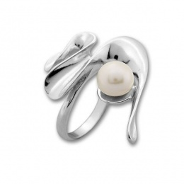 Сребърен пръстен с перла 1705926-Пръстени