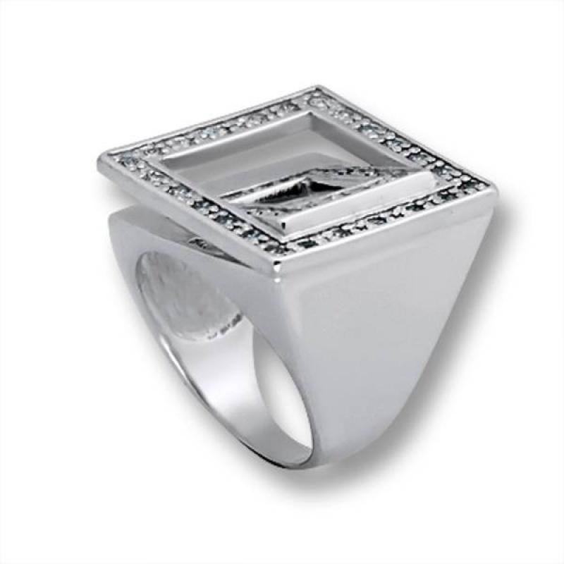 Сребърен пръстен с Камък 1615855-Пръстени