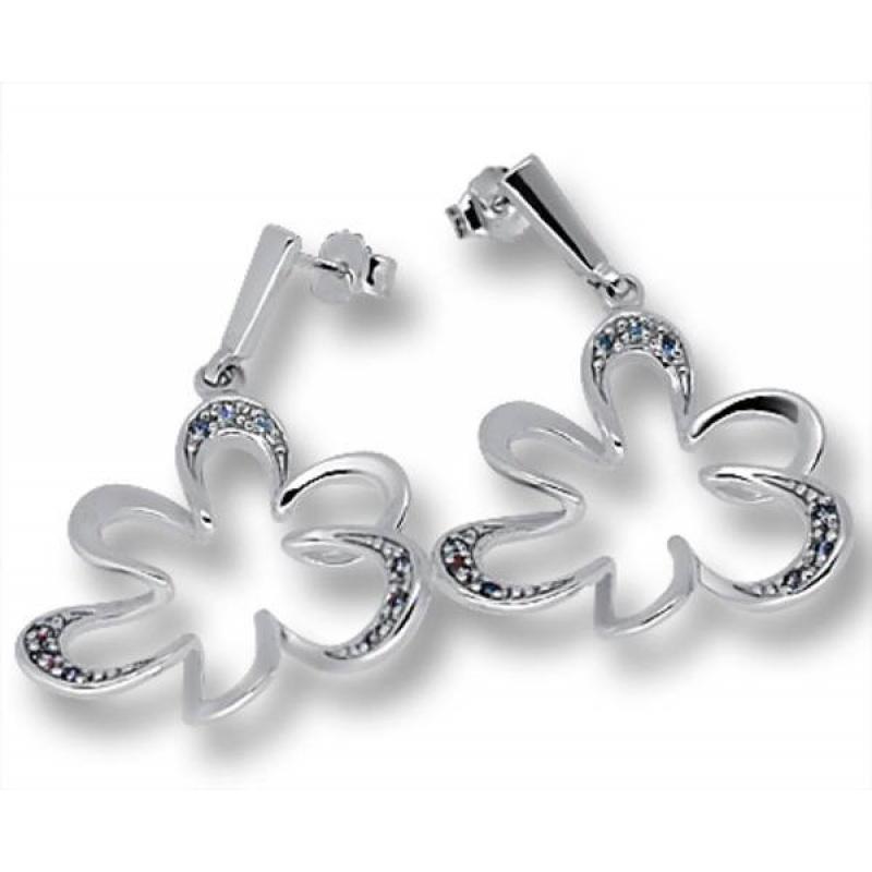 Сребърни обици с Камък 140737-Oбици