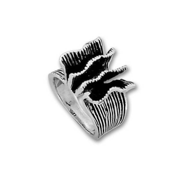 Сребърен пръстен без камък 1535236-Пръстени