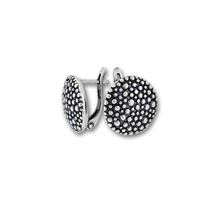 Сребърни обици без камък 132958-Oбици