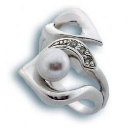Сребрен пръстен с перла 1705729-Пръстени