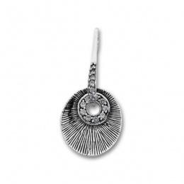 Сребърен медальон с Камък 174493-Медальони