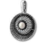 Сребърен медальон с перла 190899-Медальони