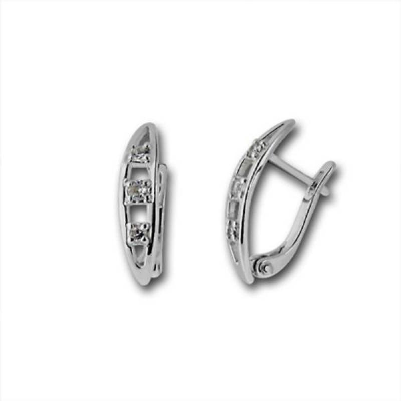 Сребърни обици с Камък 138875-Oбици