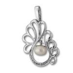 Сребърен медальон с перла 190496-Медальони