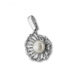 Сребърна висулка с перла 190947-Медальони
