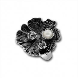 Сребърен пръстен с перла 1705872-Пръстени