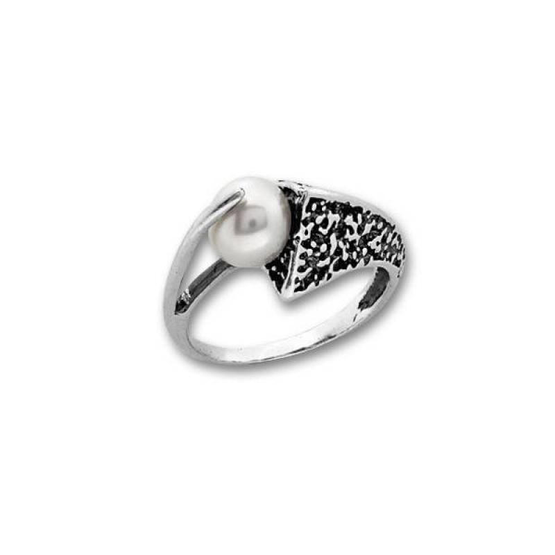 Сребърен пръстен с перла 1705948