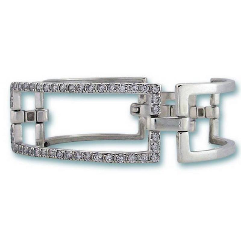 Moly - Сребърна гривна с Циркони 200154-