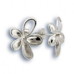 Сребърни обици без камък 133780-Oбици