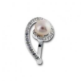 Сребърен пръстен с перла 1705813-Пръстени