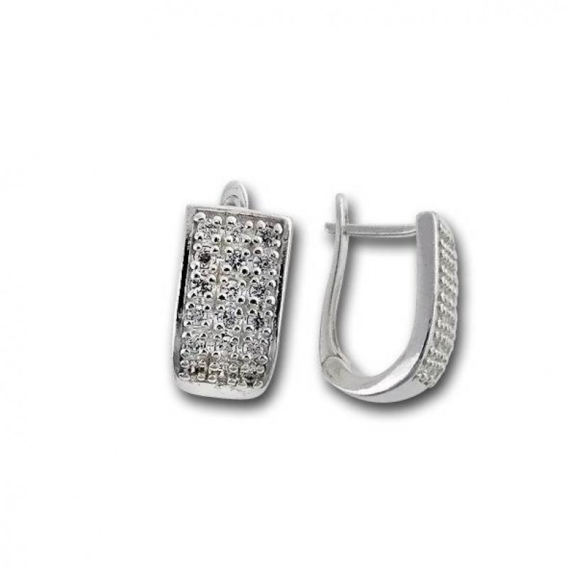 Сребърни обици с Камък 139219-Oбици