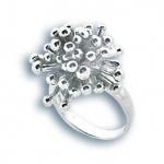 Сребърен пръстен без камък 1514949-Пръстени