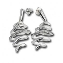 Сребърни обици с Камък 140823-Oбици