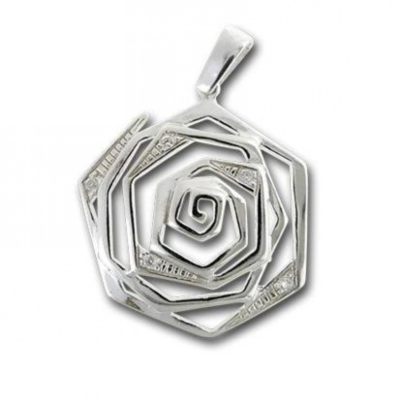 Сребърен медальон с Камък 193820-Медальони