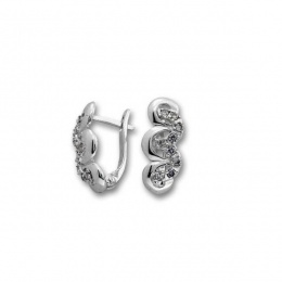 Сребърни обици с Камък 139933-Oбици