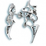 Сребърни обици без камък 136796-Oбици