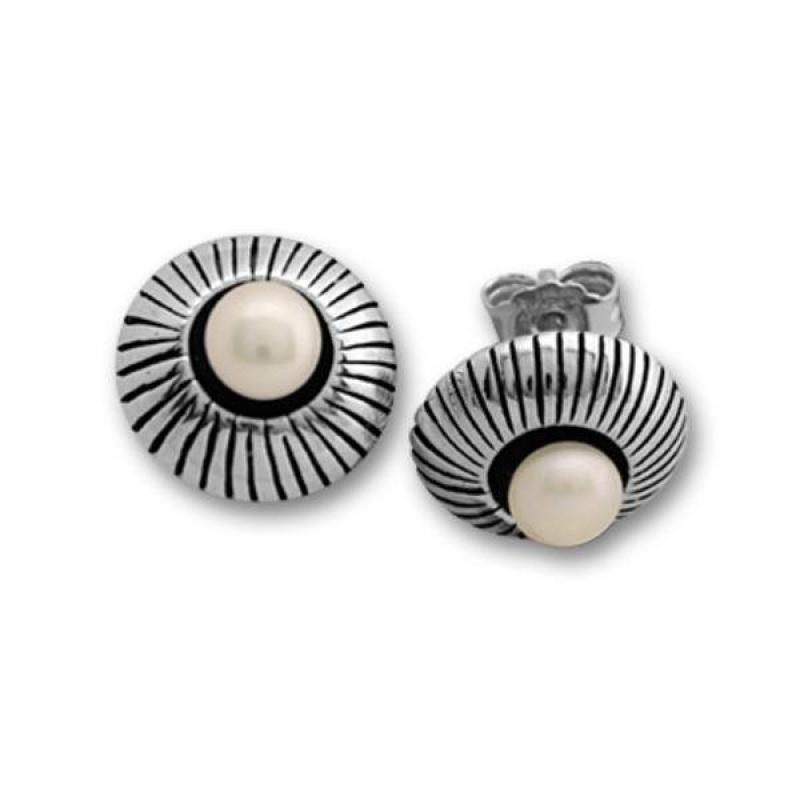 Сребрна обица с перла 115899-Oбици