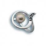 Сребрен пръстен с перла 1705633-Пръстени