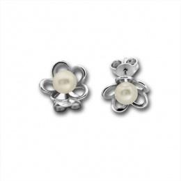 Giuliana - Сребърни обеци с перла 115883-Обеци