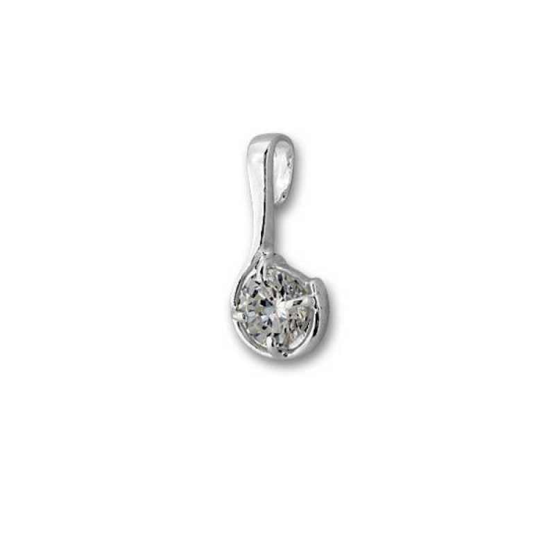 Сребърен медальон с Камък 184490-Медальони