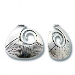 Сребърни обици без камък 132832-Oбици