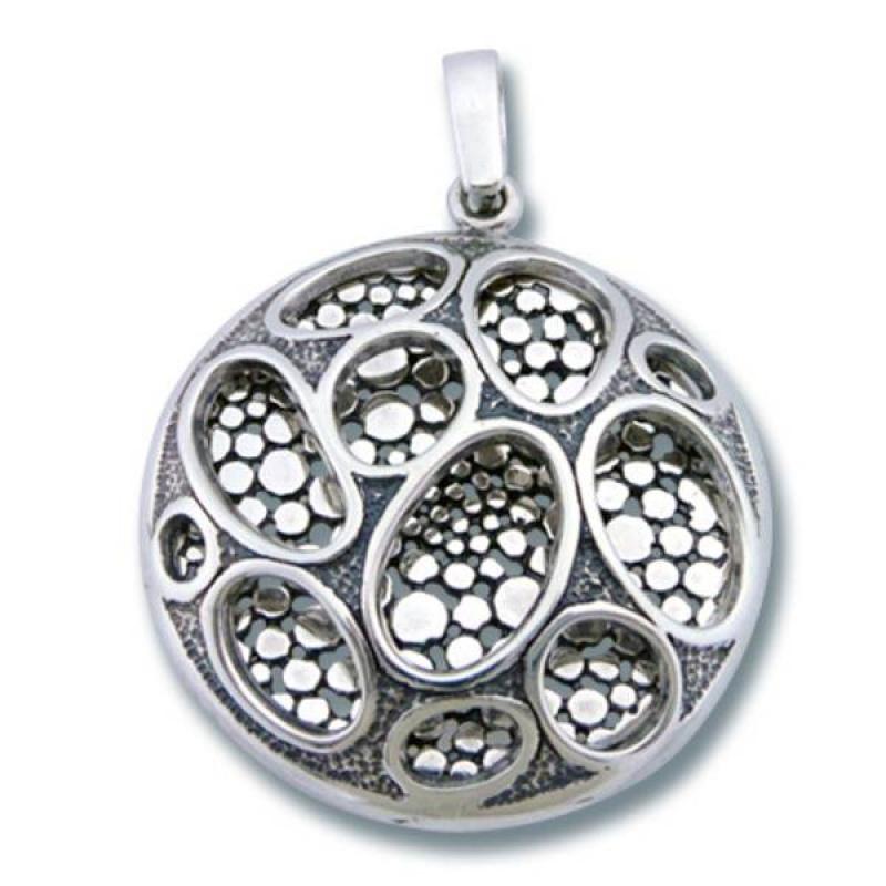 Сребърен медальон без Камък 187835-Медальони