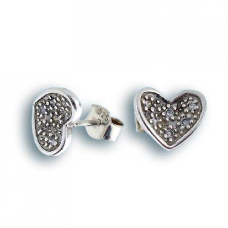 Сребърни обици с Камък 138271-Oбици