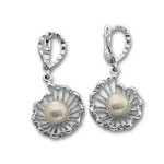 Сребрна обица с перла 115947-Oбици