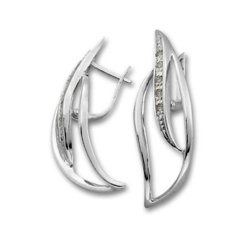 Сребърни обици с Камък 137935-Oбици